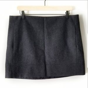 J Crew Size 12 Gray Wool Blend Lined Skirt